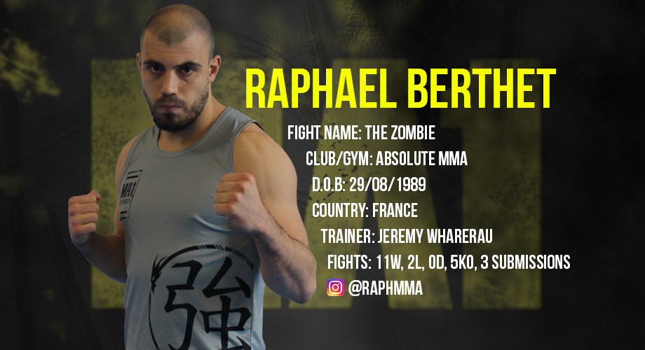 Raphael Berthet | The Zombie | MMA | Absolute MMA | MA1 | Athlete